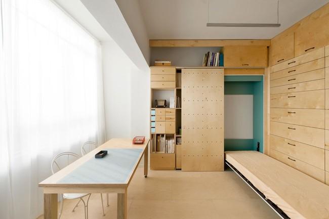Bất ngờ với căn hộ vỏn vẹn 20m² vẫn đủ các phòng chức năng của vợ chồng mới cưới - Ảnh 10.