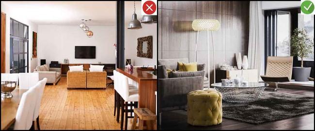 8 sai lầm phổ biến và giải pháp khắc phục khi trang trí phòng khách - Ảnh 3.