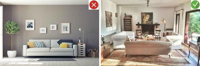 8 sai lầm phổ biến và giải pháp khắc phục khi trang trí phòng khách - Ảnh 4.