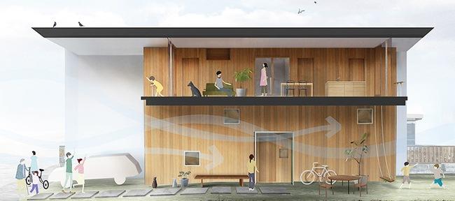 Ngôi nhà hai tầng hút hồn người xem nhờ sử dụng chất liệu gỗ tự nhiên ở Nhật - Ảnh 2.