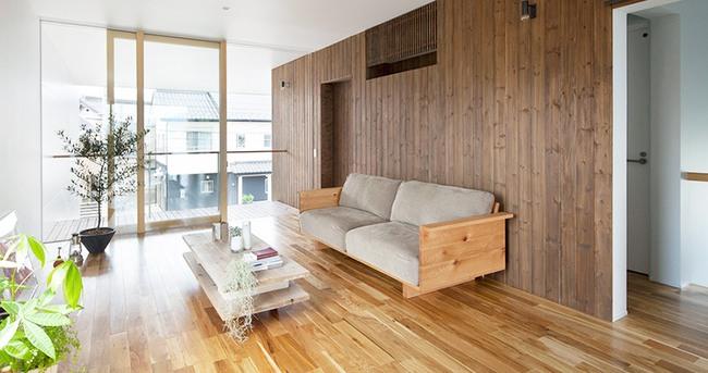 Ngôi nhà hai tầng hút hồn người xem nhờ sử dụng chất liệu gỗ tự nhiên ở Nhật - Ảnh 5.