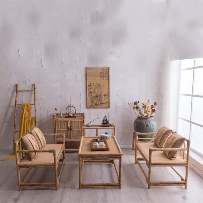 Ngắm nhìn những bộ bàn ghế với chất liệu mây tre đan quen thuộc nhưng đẹp đến bất ngờ - Ảnh 1.