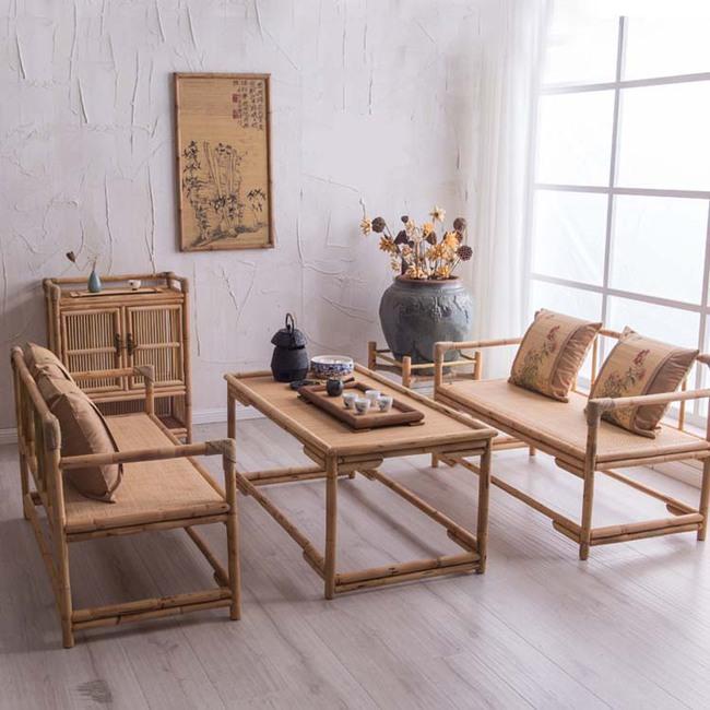 Ngắm nhìn những bộ bàn ghế với chất liệu mây tre đan quen thuộc nhưng đẹp đến bất ngờ - Ảnh 2.