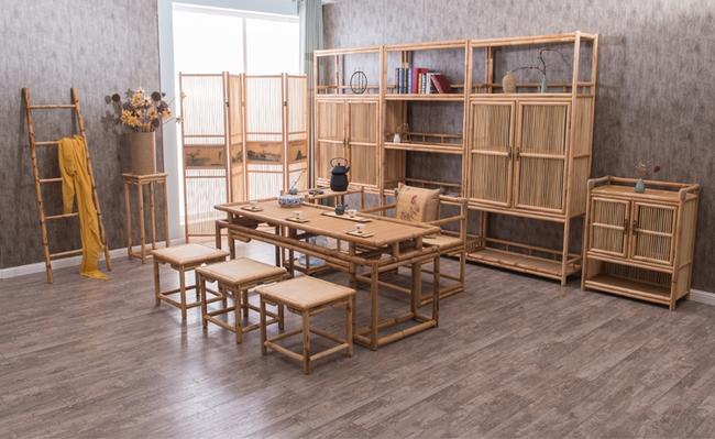 Ngắm nhìn những bộ bàn ghế với chất liệu mây tre đan quen thuộc nhưng đẹp đến bất ngờ - Ảnh 3.