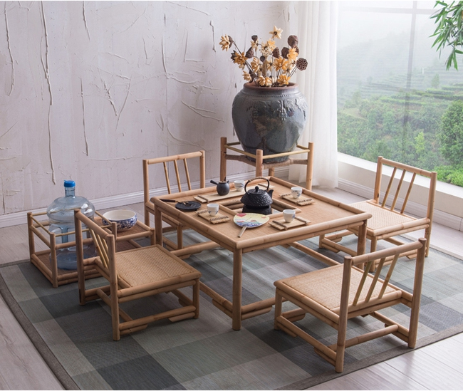 Ngắm nhìn những bộ bàn ghế với chất liệu mây tre đan quen thuộc nhưng đẹp đến bất ngờ - Ảnh 5.