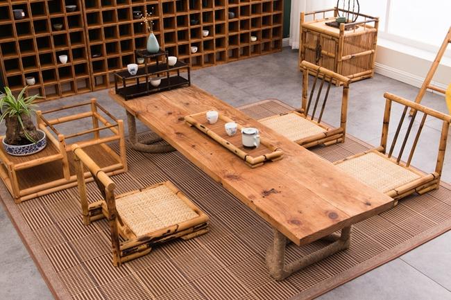 Ngắm nhìn những bộ bàn ghế với chất liệu mây tre đan quen thuộc nhưng đẹp đến bất ngờ - Ảnh 8.