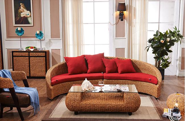 Ngắm nhìn những bộ bàn ghế với chất liệu mây tre đan quen thuộc nhưng đẹp đến bất ngờ - Ảnh 10.