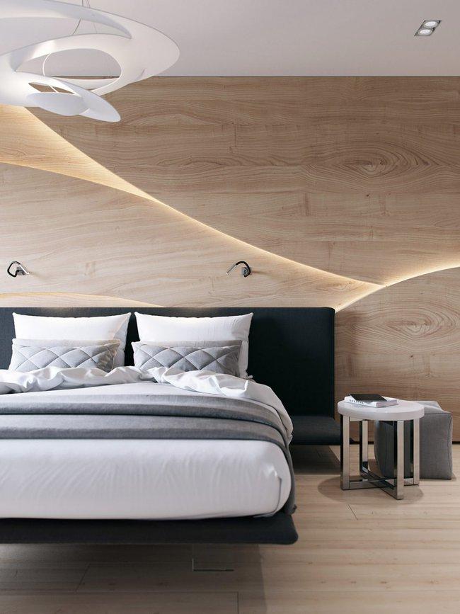 17 phòng ngủ gỗ xua tan định kiến về nội thất gỗ là nặng nề và già nua - Ảnh 3.