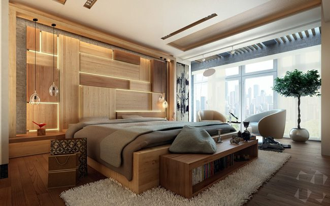 17 phòng ngủ gỗ xua tan định kiến về nội thất gỗ là nặng nề và già nua - Ảnh 7.