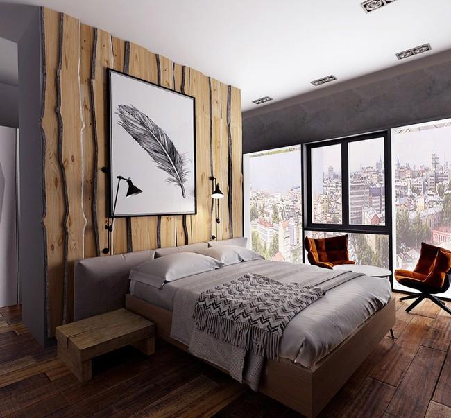 17 phòng ngủ gỗ xua tan định kiến về nội thất gỗ là nặng nề và già nua - Ảnh 9.