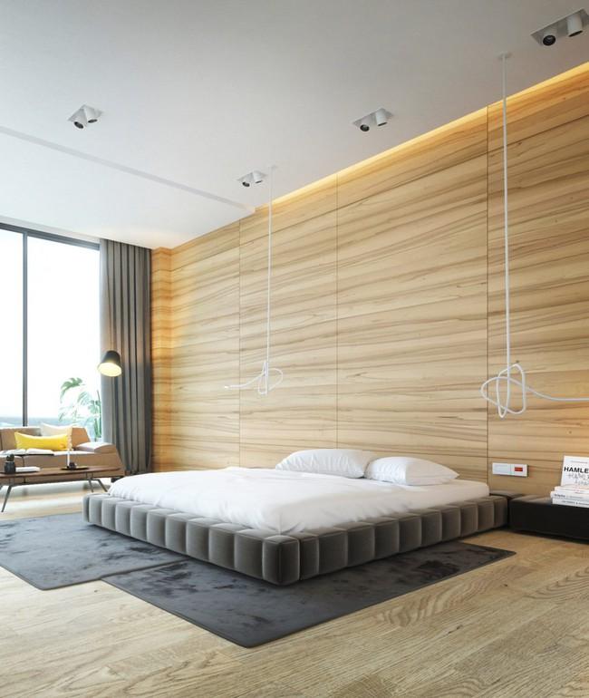 17 phòng ngủ gỗ xua tan định kiến về nội thất gỗ là nặng nề và già nua - Ảnh 11.