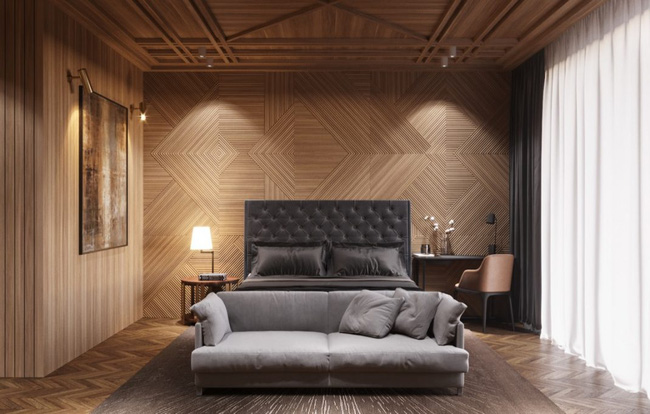 17 phòng ngủ gỗ xua tan định kiến về nội thất gỗ là nặng nề và già nua - Ảnh 14.