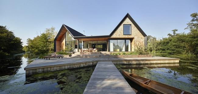 Cuối tuần được thư giãn trong ngôi nhà bên hồ như thế này thì chẳng còn gì thích hơn - Ảnh 3.
