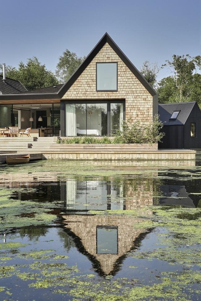 Cuối tuần được thư giãn trong ngôi nhà bên hồ như thế này thì chẳng còn gì thích hơn - Ảnh 6.