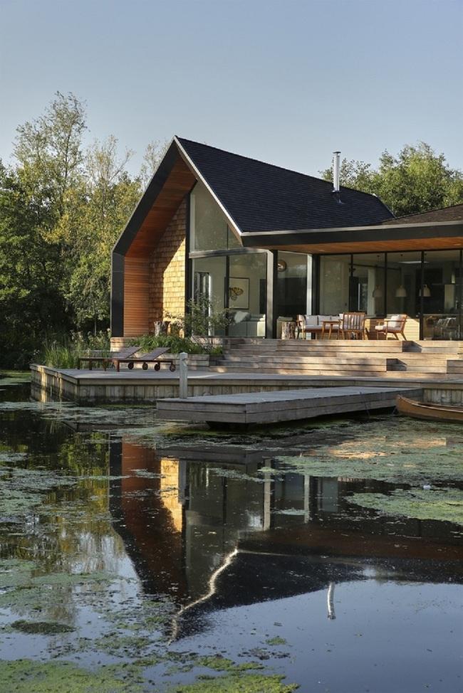 Cuối tuần được thư giãn trong ngôi nhà bên hồ như thế này thì chẳng còn gì thích hơn - Ảnh 10.
