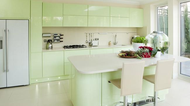 Những mẫu phòng bếp đẹp siêu lòng chị em nhờ sử dụng gam màu pastel - Ảnh 1.