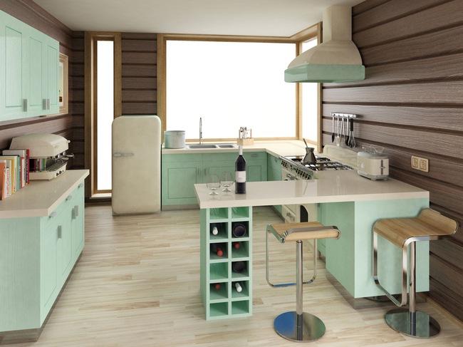 Những mẫu phòng bếp đẹp siêu lòng chị em nhờ sử dụng gam màu pastel - Ảnh 2.