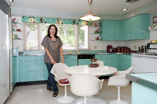 Những mẫu phòng bếp đẹp siêu lòng chị em nhờ sử dụng gam màu pastel - Ảnh 4.