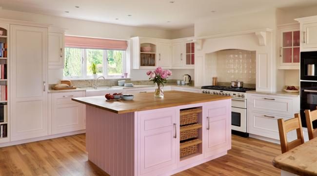 Những mẫu phòng bếp đẹp siêu lòng chị em nhờ sử dụng gam màu pastel - Ảnh 6.