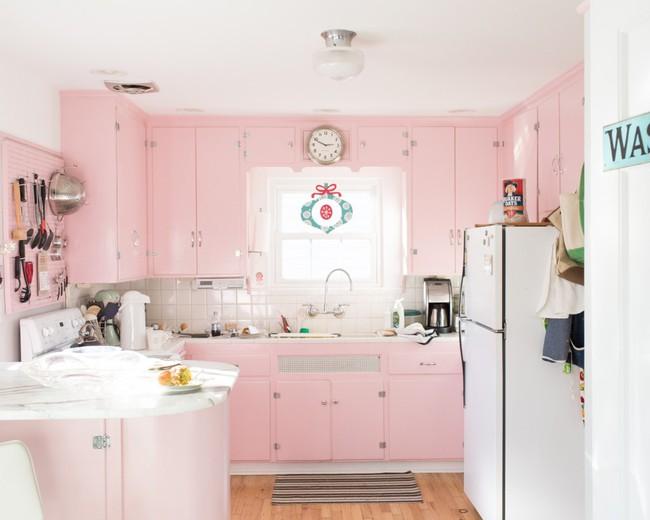 Những mẫu phòng bếp đẹp siêu lòng chị em nhờ sử dụng gam màu pastel - Ảnh 7.