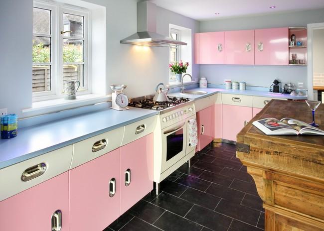 Những mẫu phòng bếp đẹp siêu lòng chị em nhờ sử dụng gam màu pastel - Ảnh 9.