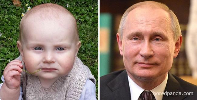 Kinh ngạc trước sự giống nhau đến khó tin của các em bé với người nổi tiếng - Ảnh 9.