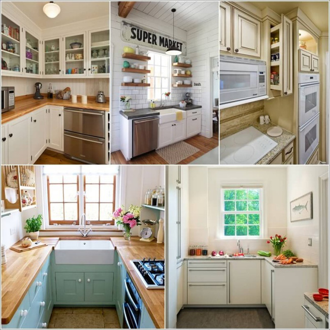 Những mẹo thông minh giúp phòng bếp nhỏ trông rộng thoáng bất ngờ - Ảnh 1.