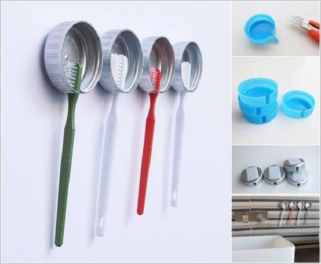 10 cách tái chế hoàn hảo những vật phẩm đơn giản để cất giữ bàn chải đánh răng  - Ảnh 4.