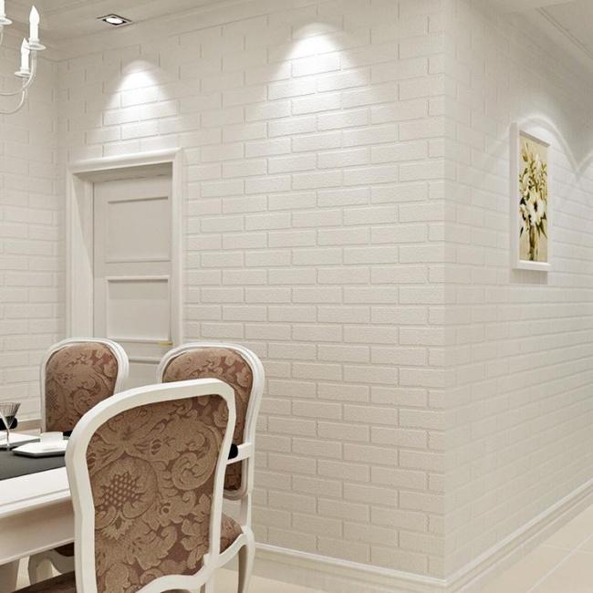Xốp giả gạch 3D - xu hướng trang trí tường mới vừa đẹp vừa rẻ cho không gian sống  - Ảnh 1.