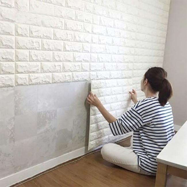 Xốp giả gạch 3D - xu hướng trang trí tường mới vừa đẹp vừa rẻ cho không gian sống  - Ảnh 5.