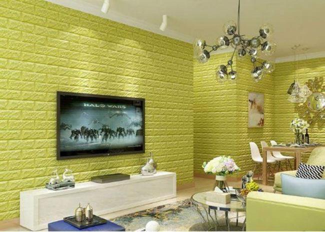 Xốp giả gạch 3D - xu hướng trang trí tường mới vừa đẹp vừa rẻ cho không gian sống  - Ảnh 9.