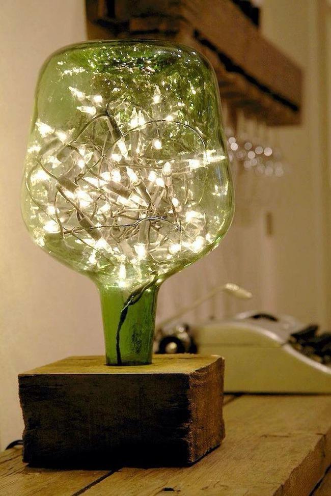Chẳng thể ngờ những chiếc đèn đẹp lung linh này lại được làm từ chai thủy tinh tái chế - Ảnh 10.