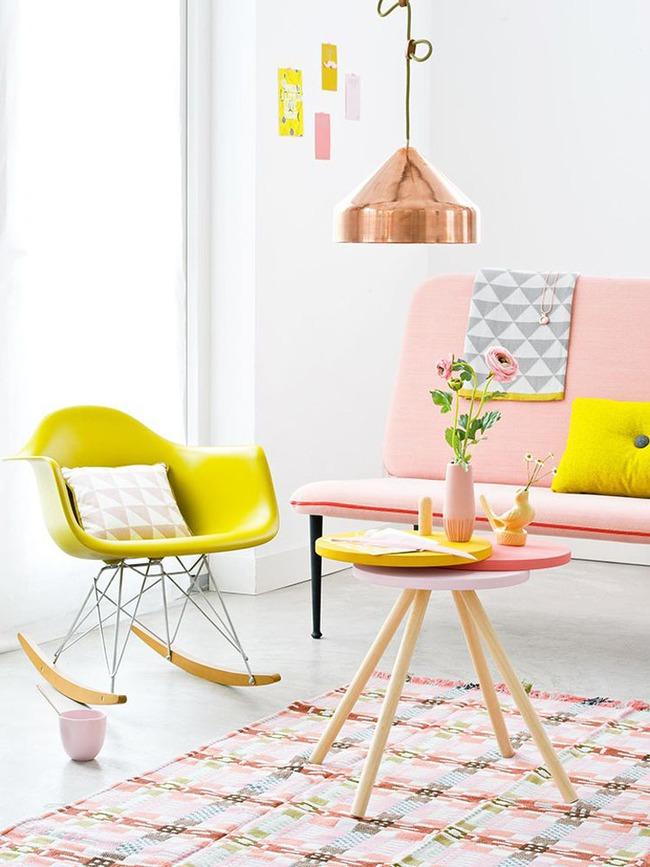 Vẻ đẹp đầy lôi cuốn trong thiết kế nội thất của cặp đôi màu sắc đồng và hồng - Ảnh 5.