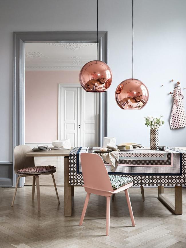 Vẻ đẹp đầy lôi cuốn trong thiết kế nội thất của cặp đôi màu sắc đồng và hồng - Ảnh 6.