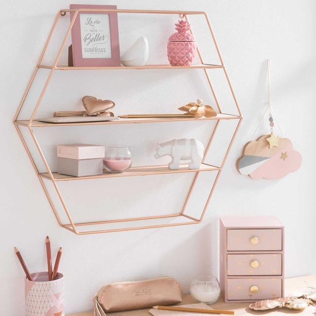 Vẻ đẹp đầy lôi cuốn trong thiết kế nội thất của cặp đôi màu sắc đồng và hồng - Ảnh 13.