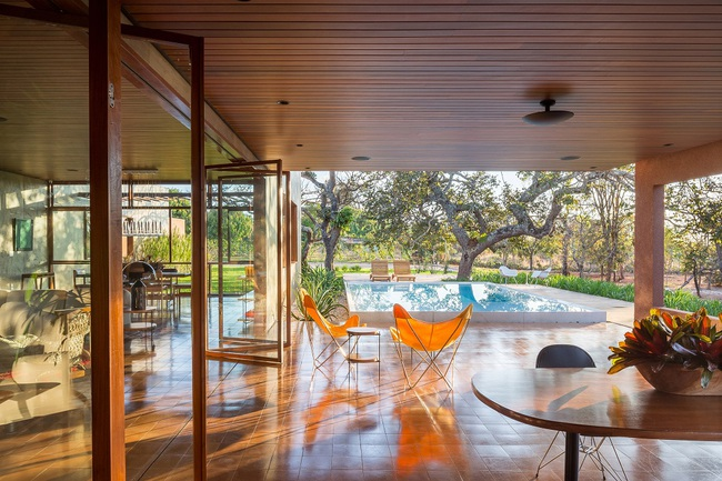 Ngôi nhà đặc biệt khi thiết kế thảm thực vật dày đặc bao quanh và nội thất độc đáo theo phong cách retro - Ảnh 6.