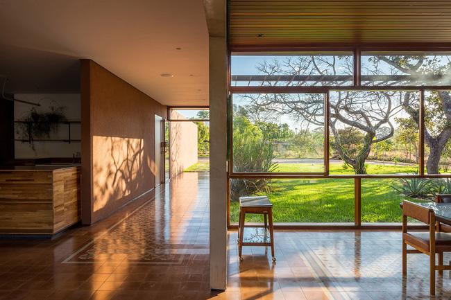 Ngôi nhà đặc biệt khi thiết kế thảm thực vật dày đặc bao quanh và nội thất độc đáo theo phong cách retro - Ảnh 7.