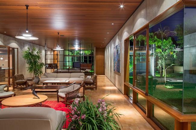 Ngôi nhà đặc biệt khi thiết kế thảm thực vật dày đặc bao quanh và nội thất độc đáo theo phong cách retro - Ảnh 14.