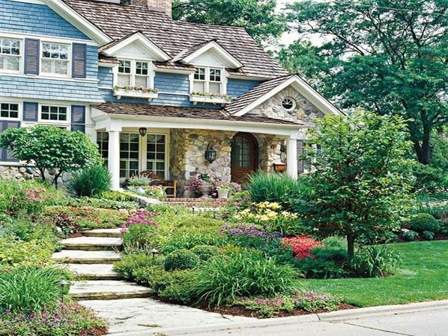 Sân vườn nhỏ không thành vấn đề, vẫn có thể xinh lung linh như thế này nhé - Ảnh 7.