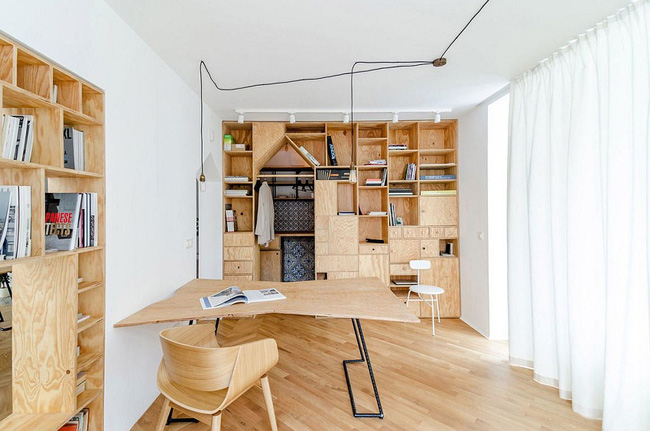 Lấy nội thất gỗ làm điểm nhấn, ngôi nhà này được đánh giá là cực hiện đại và tinh tế - Ảnh 8.