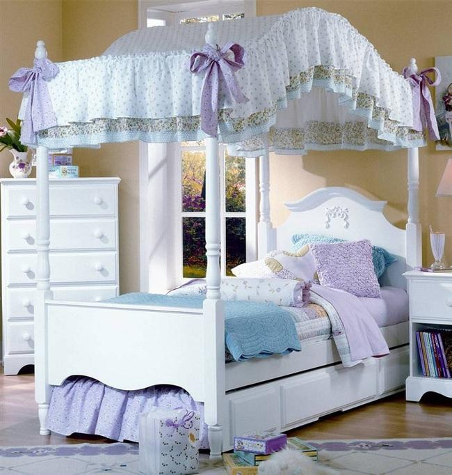 3 cách thiết kế và 15 mẫu phòng ngủ bé gái đẹp như cổ tích  - Ảnh 1.