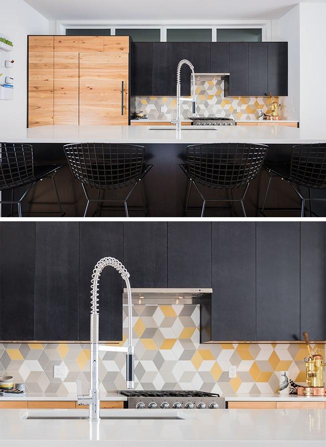 9 mẫu gạch ốp nhà bếp theo phong cách hình học cho chị em tùy ý lựa chọn - Ảnh 2.
