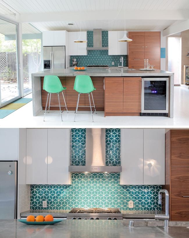 9 mẫu gạch ốp nhà bếp theo phong cách hình học cho chị em tùy ý lựa chọn - Ảnh 3.