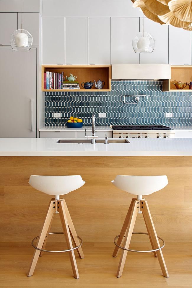 9 mẫu gạch ốp nhà bếp theo phong cách hình học cho chị em tùy ý lựa chọn - Ảnh 7.