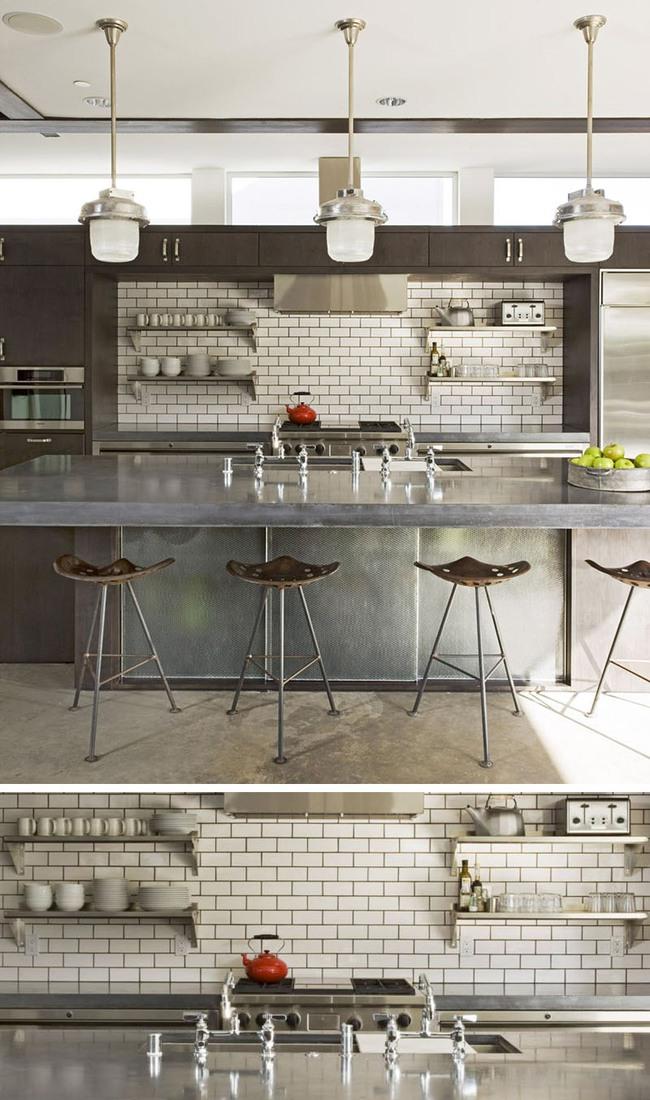 9 mẫu gạch ốp nhà bếp theo phong cách hình học cho chị em tùy ý lựa chọn - Ảnh 9.