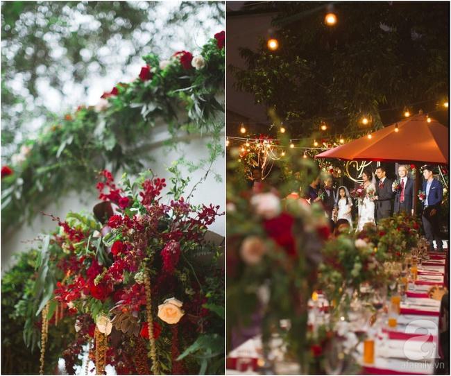 Cặp đôi Hà Thành trang trí tiệc cưới sân vườn với sắc đỏ đẹp như một giấc mơ về hạnh phúc - Ảnh 2.