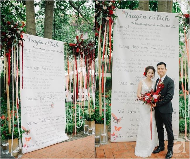 Cặp đôi Hà Thành trang trí tiệc cưới sân vườn với sắc đỏ đẹp như một giấc mơ về hạnh phúc - Ảnh 3.