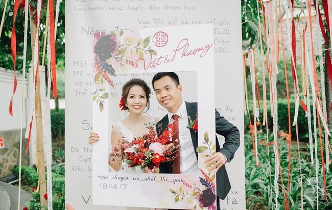 Cặp đôi Hà Thành trang trí tiệc cưới sân vườn với sắc đỏ đẹp như một giấc mơ về hạnh phúc - Ảnh 7.