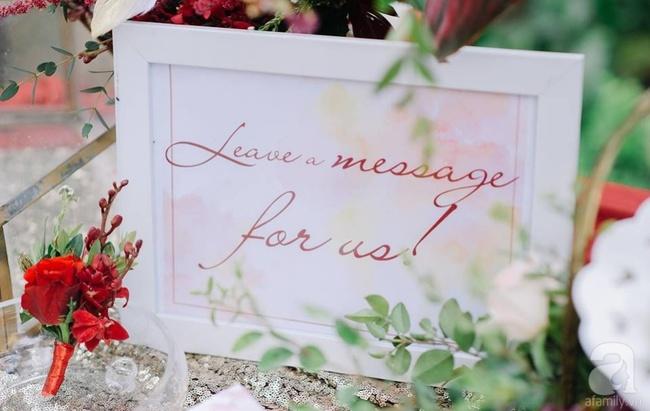 Cặp đôi Hà Thành trang trí tiệc cưới sân vườn với sắc đỏ đẹp như một giấc mơ về hạnh phúc - Ảnh 25.