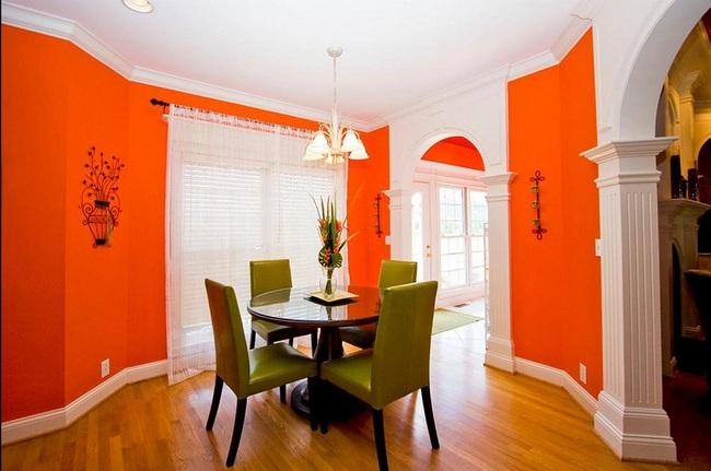 Trang trí phòng ăn với tông màu cam rực rỡ chính là xu hướng của mùa hè năm nay - Ảnh 2.